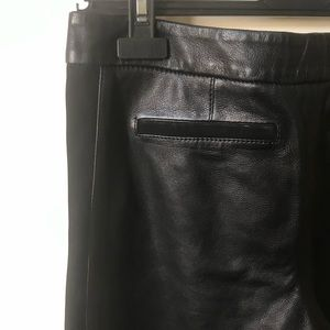 Burberry Brit leather and suede trousers size 2